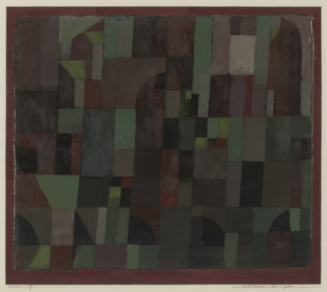 Red green architecture yellow violet gradation by paul klee.thumb